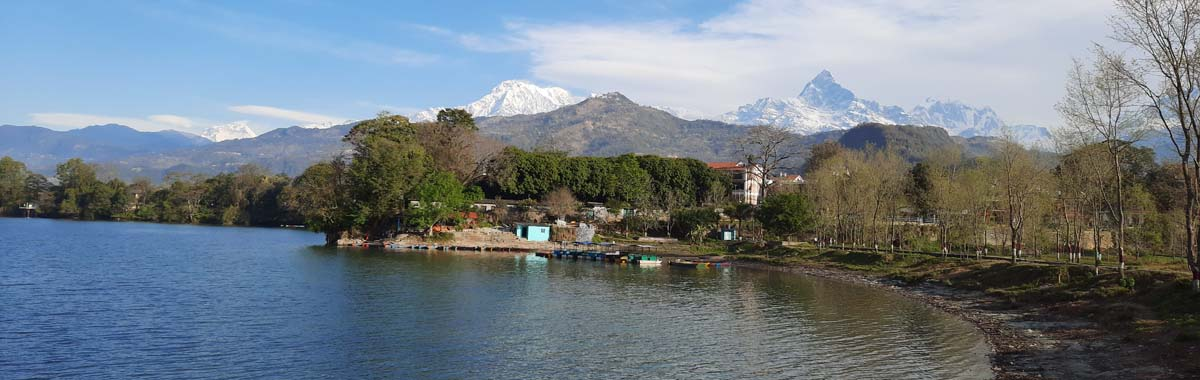 Pokhara Mountain and Lake
